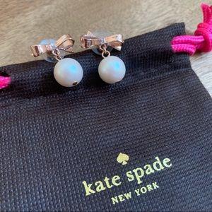 Kate Spade Bow + Pearl Earrings